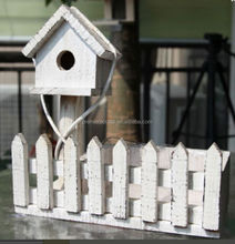 Wooden Planter Bird House Kit/ Bird Feeder with Plastic Lining