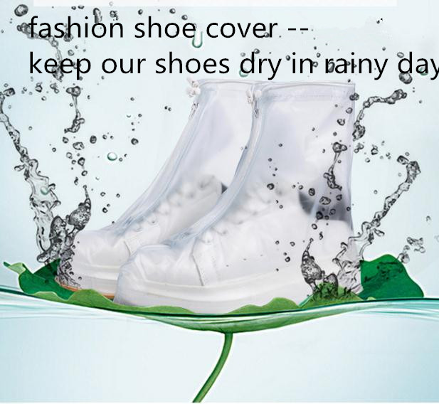 Unisex Waterproof PVC Shoes Raincoat Cover Rain Snow Boots Covers Reusable Slip-resistant Rain Covers