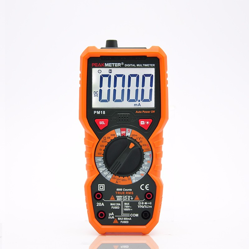 Topsale 6000 Counts True RMS 1000V AC DC 20A AC DC Multifunction Multimeter Specifications