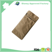 Kraft paper one way valve stand up coffee pouch /coffee beans bag
