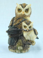 resinic owl figures,polyresin hawk statue,large animal statue