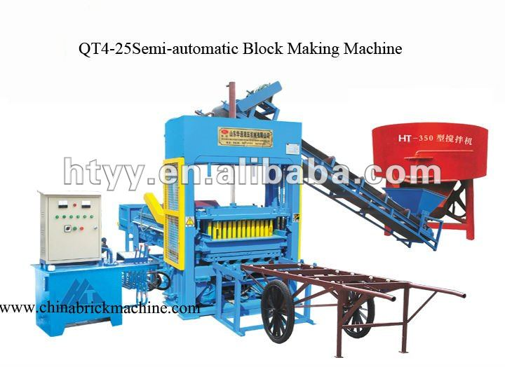 Hollow and interlock Block Making Machine(QT4-25)