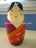 Colorful wooden Russia nesting dolls for kids