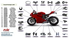 Motorcycle carbon fiber parts body parts for Ducati Paniage 1199 899 1299