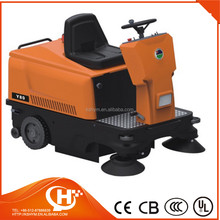 orange colour ride-on tractor 3 point hitch snow sweeper