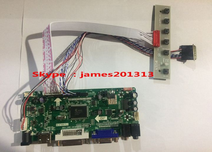 High Quality HDMI VGA DVI Audio Lcd Controller Board M.NT68676 For LP156WH2-TLA1 <strong>N156B6</strong>-L0B 1366*768 Lcd Panel 100% Test