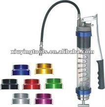 Clear tube grease gun with aluminum cast gun head