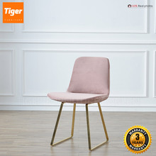 wholesale restaurant furniture accent pink dining velvet chair metal frame chair