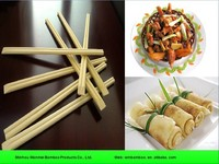 Bulk restaurant disposable square bamboo chopsticks
