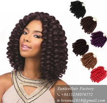 Synthetic braiding hair for black women styles hair attachments for braids bouncy wand curl ombre braids