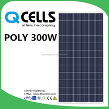 300W Q cells solar panels made by Germany technology