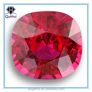 charm square shaped garnet cubic zircon gemstone