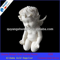 lovely marble stone little angel statue with wings
