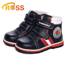 Magic type leather design sports style children autumn casual shoes