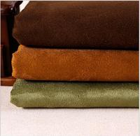 Fire retardant faux suede upholstery fabric