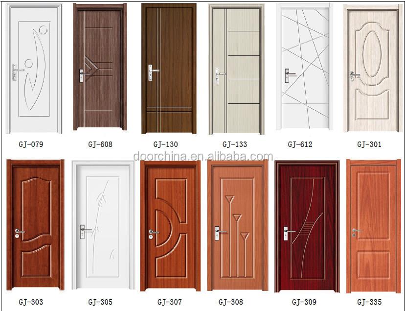 Pvc Interior Living Room Mdf Doors Indian Door Designs