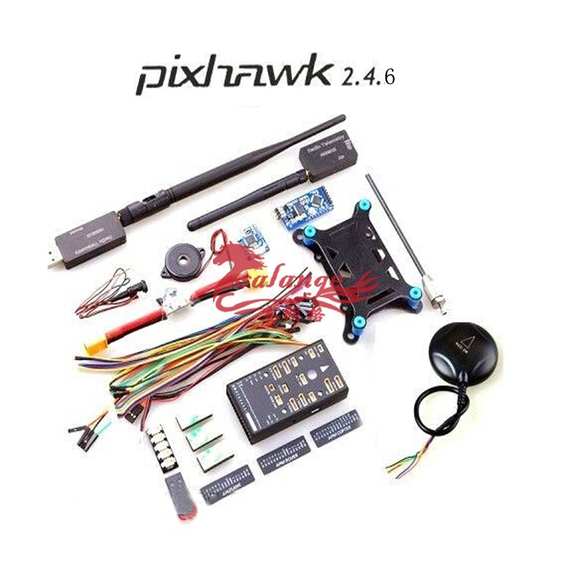 Newest PX4 Pixhawk Pix 2.4.6 + NEO-6M GPS+3DR Radio(433mhz 500mw/915mhz 250mw)+ Mini OSD For DIY Drone By Salange
