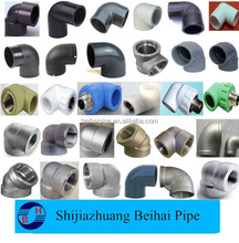 stainless steel handrail elbow 90 degree/pvc plastic pipe fitting three way elbow fittings