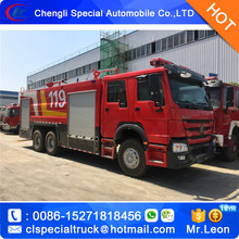 12Tons SINO HOWO water and foam fire trucks 10-15MT fire-extinguishing water tanker