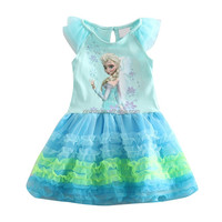 Latest children party dresses for girls 1-6 years old baby girl dress