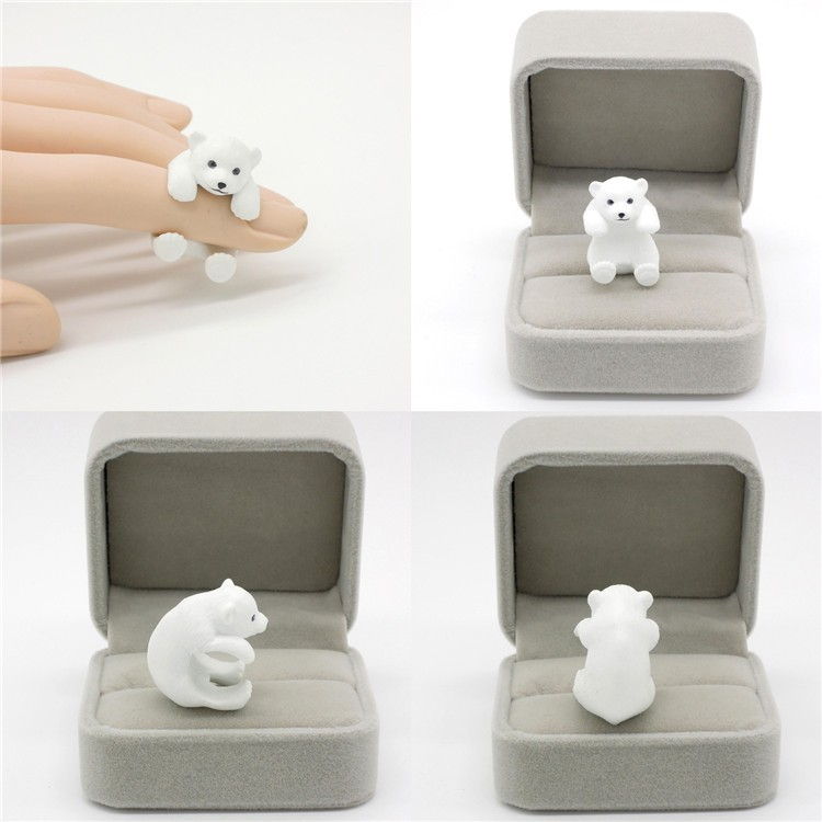 Daihe fashion kids jewelry Polar Bear shaped animal ring