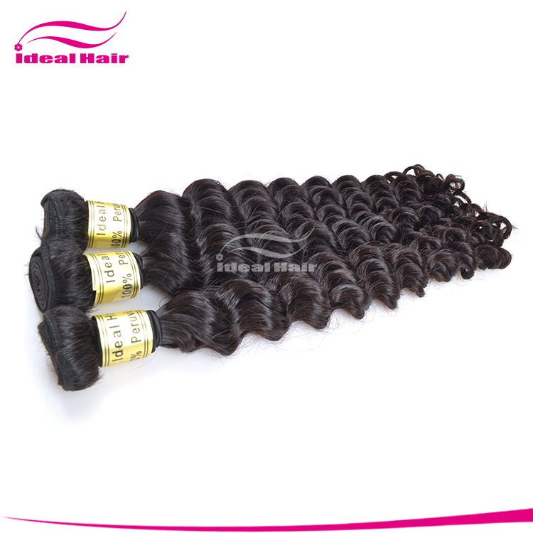 NEW free weave hair packs,perfect deep wave peruvian virgin remy hair