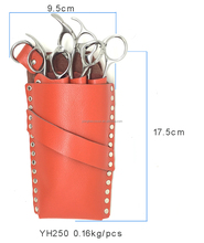 YH250 Cow leather Hair Scissor Case