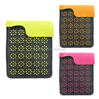 (7-04)Beautiful Laser Cut Flower Case for Smart Felt Pad Sleeve Tablets Case