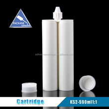 Ks2 590ml 1:1 polyurethane plastic chemical container