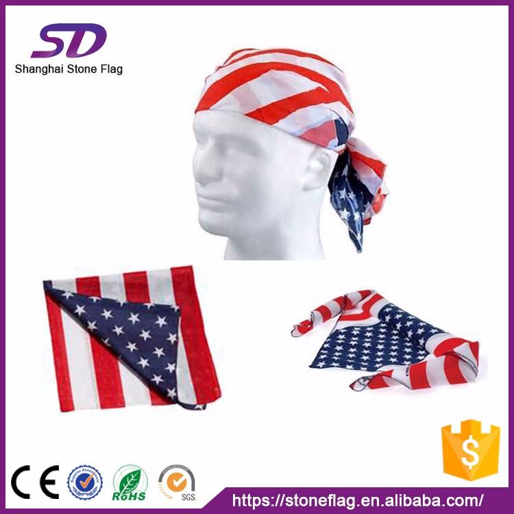 100% Polyester Customized Country Bandana