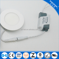 Ultra slim 3W 6W 9W 12W 15W 18W 24W LED ceiling recessed round led light panel,led panel lamp