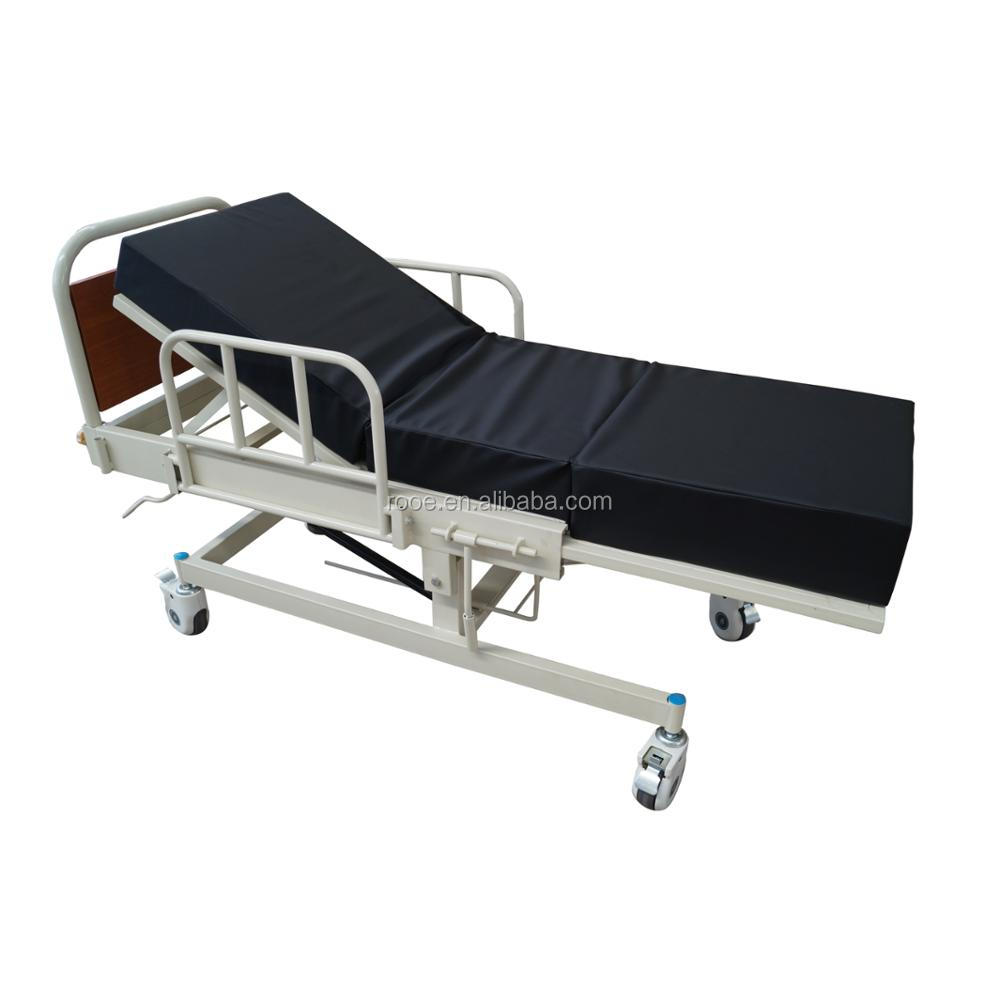 A-2000A Economic Delivery bed with black mattress