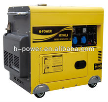 New Type!!!! Portable Silent Type 6KVA/5KW Diesel Generator HP7000LN with Enlarge Fue Tank and Latest EPA of 2013!