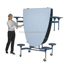 Mobile folding bench table, School Bench Cafeteria Tables