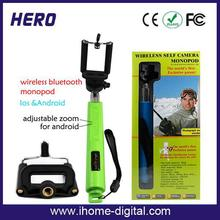promotional selfie stick or monopod selfie stick mirror selfie stick extendable hand held monopod RoHS