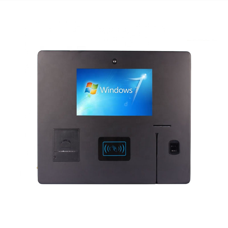 10.1inch Rfid card reader kiosk with printer for wall mounted