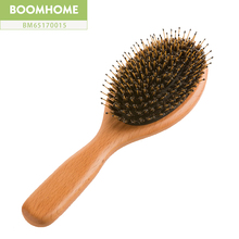 China supplier boomhome hair brush factory oval beech wood boar hair brush