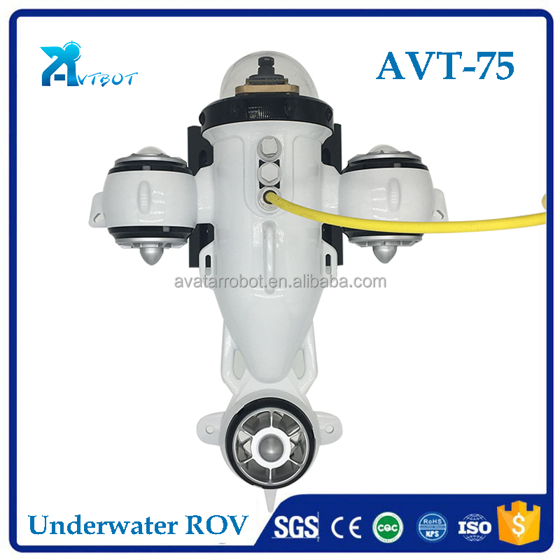 Unmanned remote control great price 75m inspection ROV underwater vehicle