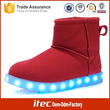 High Quality New Women Light Up Shoe Rechargeable Flashing Led Women Winter Boots