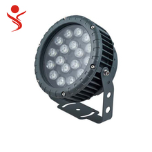 18w round die casting aluminum led outdoor garden flood light use in garden building scenic spot