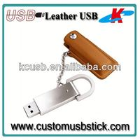 4gb metal usb stick memory leather case