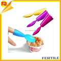ZL 111441 Custom Set of 4 Plastic Finger ice cream Spoon