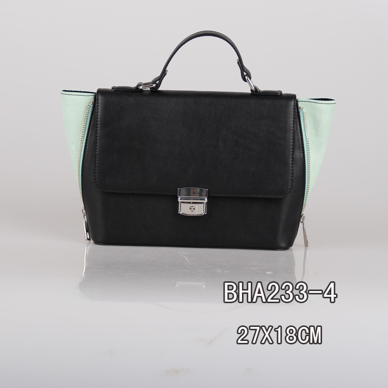 New arrival latest design fashion women handbag with two color ,women bag