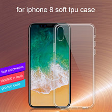 Soft Transparent TPU case for iphone 8,For iPhone 8 TPU Silicon Cover Case