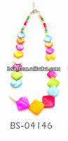 Colorful square shell necklace