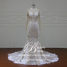 XF16101 champagne jacket wedding dress,tea length wedding dresses long sleeves