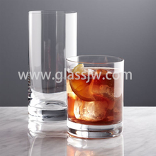 Straight high grade water drinking glass