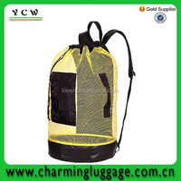 Cylinder Diving swimming mesh bag drawstring backpack