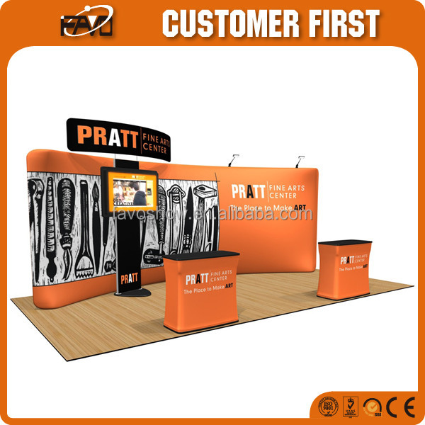 Portable Trade Show Display Booth Stand 20X20 Large Durable Exhibition Booth