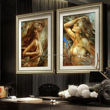 China Factory Womens sexy photo Oil Painting Hot Nude Images Frame Canvas Wall Art